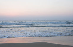 Ocean shore with sandy beach Royalty Free Stock Images