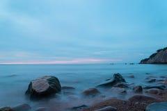 Ocean shore (Slow shutter speed) Stock Photo