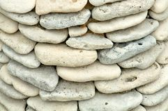 Ocean Shore Stones Background Stock Photography