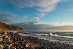 Ocean shore at sunrise Stock Photography