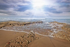 Ocean shoreline sunlight Stock Photo