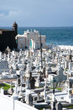 Ocean side Cemetery Royalty Free Stock Photo