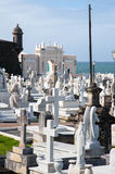 Ocean side Cemetery Royalty Free Stock Image