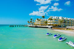 An ocean side resort in Key West Stock Photos