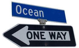 Ocean sign Royalty Free Stock Image