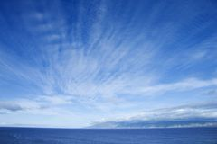 Ocean and sky. Pacific Ocean and blue sky off Honolulu, Hawaii Stock Photography