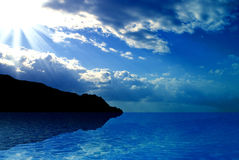Ocean and Sky Royalty Free Stock Image