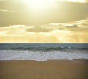 Ocean sky and beach Stock Image
