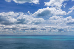 Ocean and Sky postcard view from New Zealand Royalty Free Stock Image
