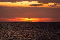 Ocean sky scape sunset Stock Photos