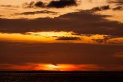 Ocean sky scape sunset Stock Image