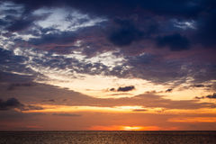 Ocean sky scape sunset Royalty Free Stock Images