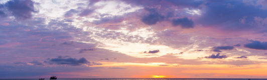 Ocean sky scape sunset Stock Photography