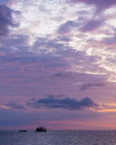 Ocean sky scape sunset Stock Images