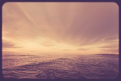 Ocean and sky sunset vintage Stock Photo