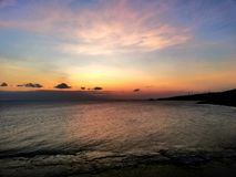 Ocean sky. Water yellowsky beach stock photos