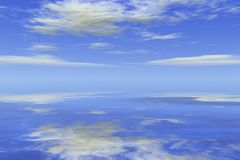 Ocean Sky Waterscape. Computer generated ocean sky waterscape stock illustration
