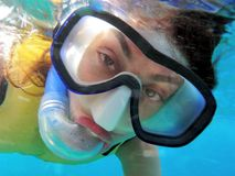 Ocean snorkeler Royalty Free Stock Images