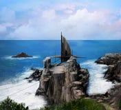 Ocean Spaceship Royalty Free Stock Images