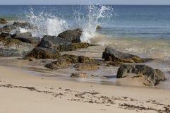 Ocean Splashing on the Rocks Royalty Free Stock Photography