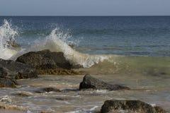 Ocean Splashing on the Rocks Royalty Free Stock Photo