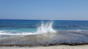 Ocean spray. Beautiful sea spray royalty free stock image