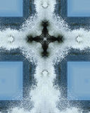 Ocean spray cross2. Kaleidoscope cross from photo of wave spray, Oregon coast Stock Images