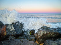 Ocean Spray at Sunset Royalty Free Stock Image