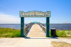 Ocean Springs Beach. Gulf coast beach in Ocean Springs, Mississippi Stock Photography