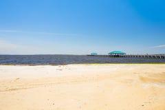 Ocean Springs strand fotografering för bildbyråer