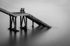 Ocean stairway Stock Photography