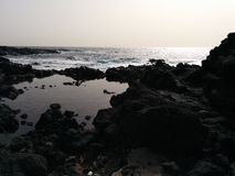 Ocean and stones. Tenerife Royalty Free Stock Photo