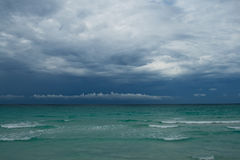 Ocean before storm. Thunderstorm cloudscape Royalty Free Stock Photos