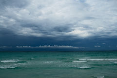 Ocean before storm. Thunderstorm cloudscape Stock Photography