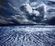 Ocean storm. Background ocean storm with waves and clouds Stock Photo