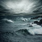 Ocean storm. Mood sky over an ocean storm Royalty Free Stock Photo