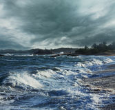 Ocean in storm Stock Photography
