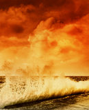 Ocean storm. Picture of an Ocean storm Royalty Free Stock Images