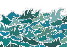 Ocean Storm  Green Waves Royalty Free Stock Images