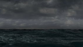 Ocean Storm stock video footage