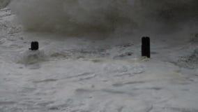 Ocean storm king tide surge stock footage