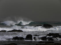 Ocean Storm. A view of a ocean storm and storm waves Stock Images