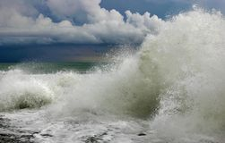 Ocean storm wave Royalty Free Stock Photos