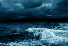 Ocean stormy. Dramatic stormy sky and sea Stock Photo