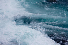 Ocean on Stormy Day on Rocky Coast of Maine Stock Photos