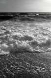 Ocean Study. Ocean waves in black and white Stock Images