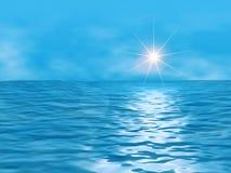 Ocean and sun Stock Photos