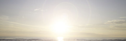 Ocean and Sun BACKGROUND Stock Image
