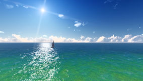 Ocean, sun, beach landscape. Stock Photography