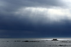 Ocean sunbeams Royalty Free Stock Photos